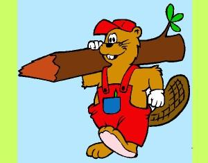castor-a-trabalhar-animais-bosque-pintado-por-luciana789-1012556