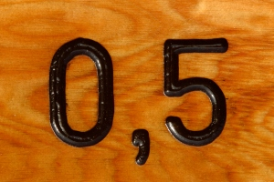 Numbers in wood